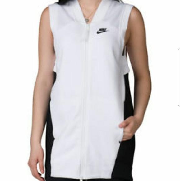 44b1db3ab4ad Nike womens tech fleece cocoon mesh full zip vest